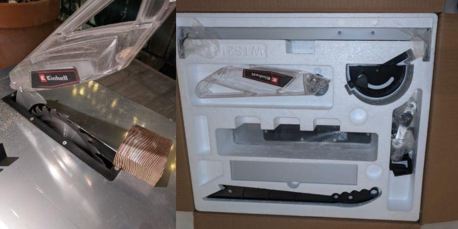 Caja de la einhell tc ts 210