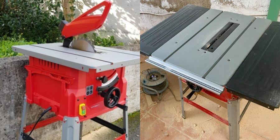 sierra einhell tc ts 2022 para cortar madera base de corte