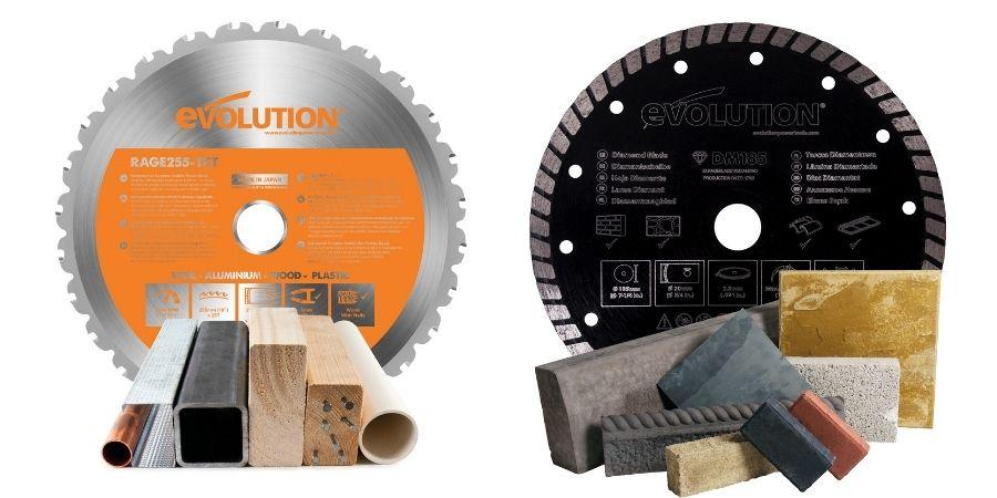 Dos de los discos disponibles de Evolution