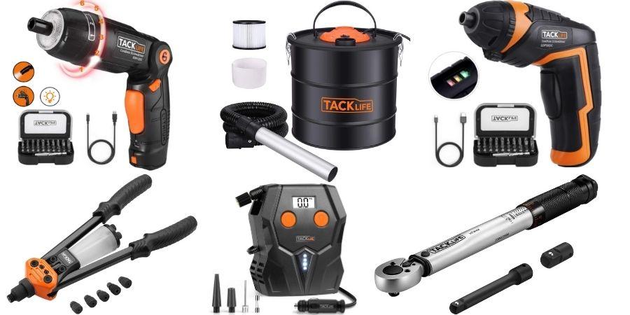 Algunos de los productos TackLife disponibles