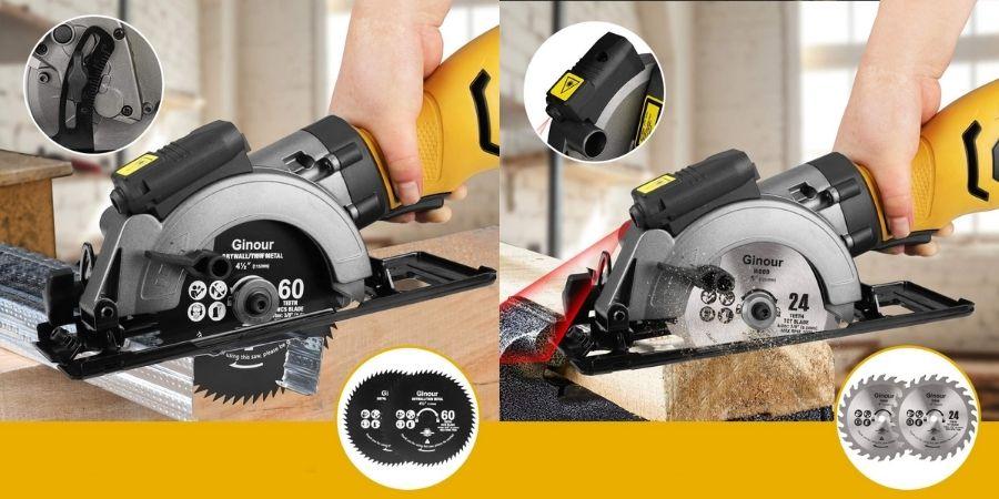 Detalles de la cortadora circular Ginour TPKPT0027