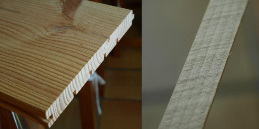 Corte realizado con la hoja de sierra circular Optiline Wood Bosch 2 608 640 617 - 190 x 30 x 2,6 mm, 48