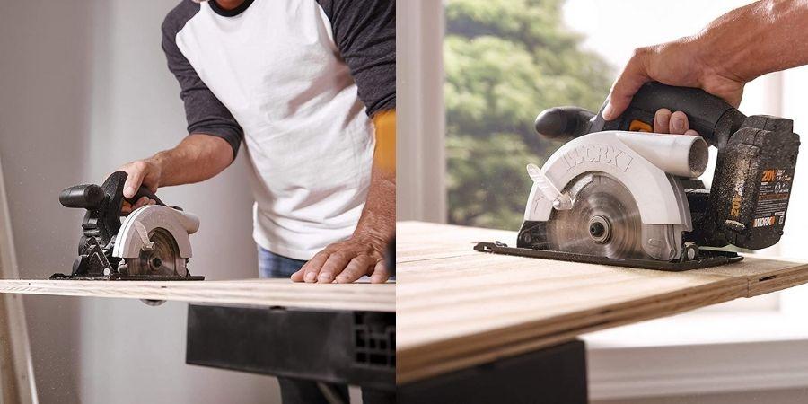 Cortes de madera con la herramienta para bricolaje WX529.9