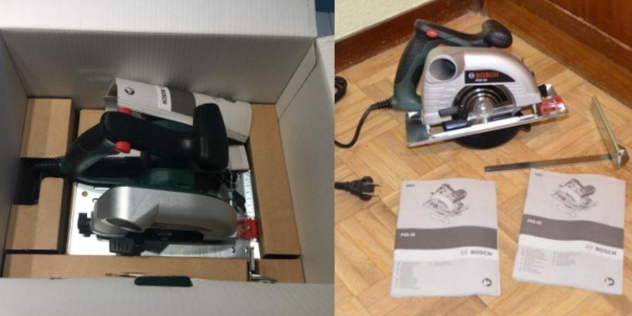 Herramienta de mano PKS 40 Upgrade de Bosch con todo lo que incluye su compra