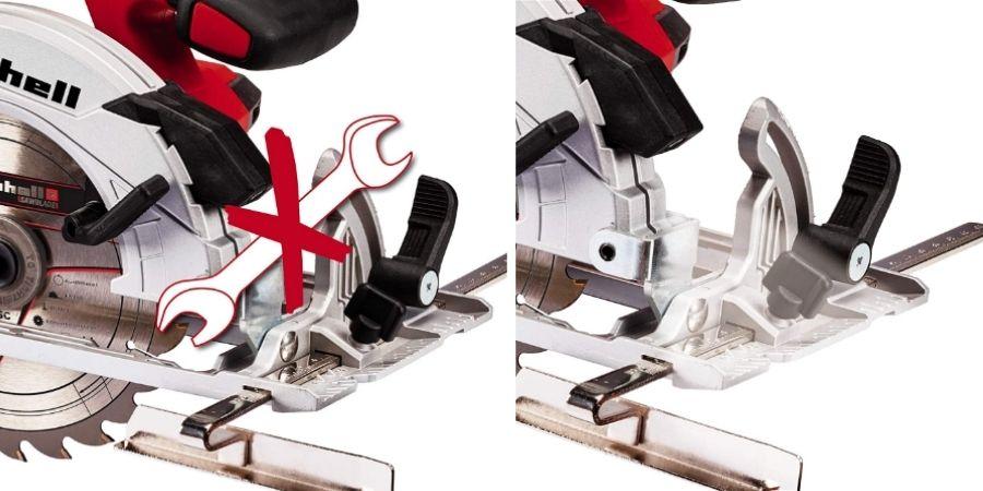 La maquina TE-CS 18 Li Solo permite ajuste de profundidad sin ayuda de elementos externos