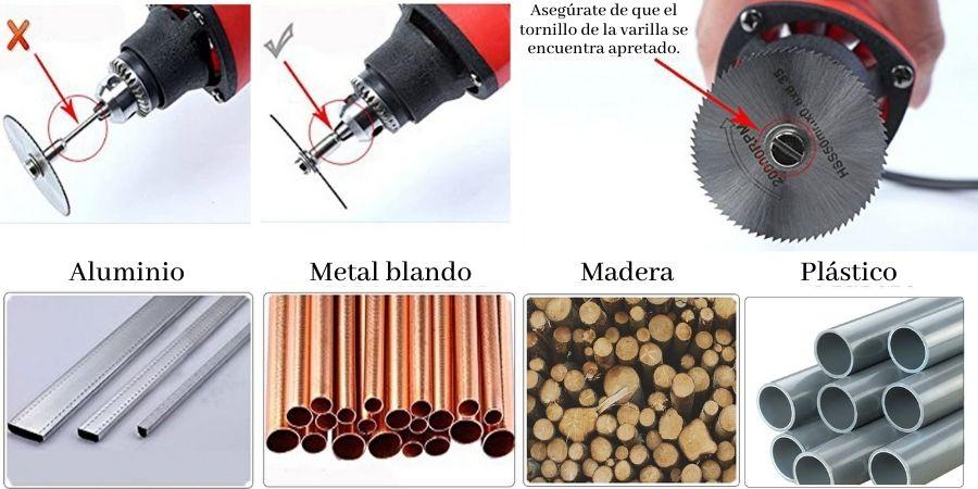 Materiales que es capaz de cortar las cuchillas de T-Wilker