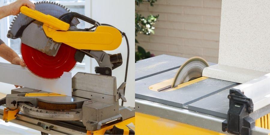 ¿Qué es mejor una ingleteadora o una sierra circular de banco