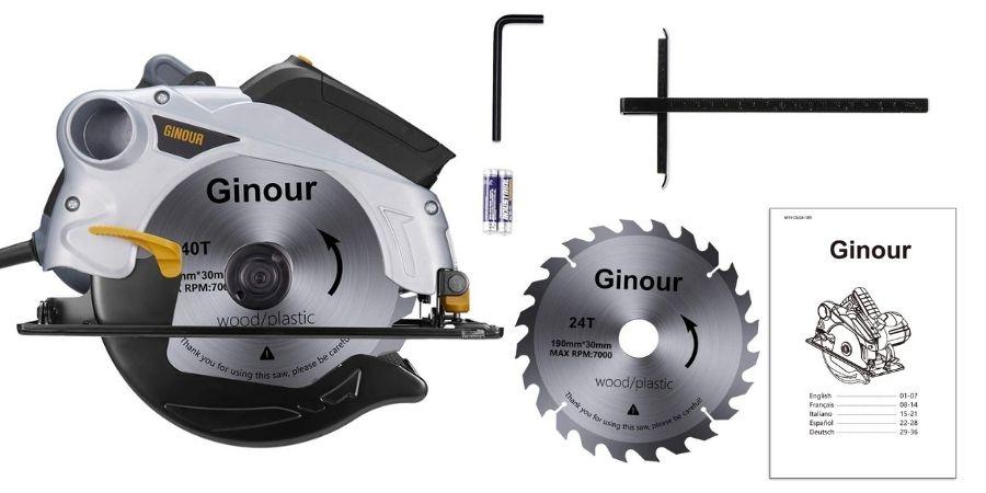 Elementos que vienen incluidos en la compra de la Sierra de mano Ginour 1500W TPK- PT001