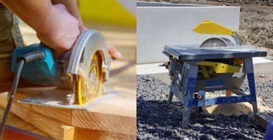 las mejora sierras para cortar madera. Sierra de banco y Sierra circular de mano