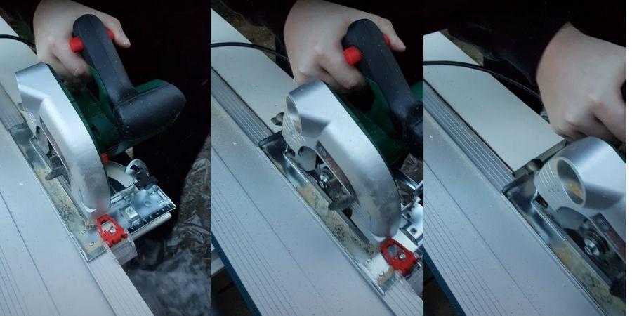 Corte en madera realizado por la máquina eléctrica PKS 40 Upgrade  de Bosch